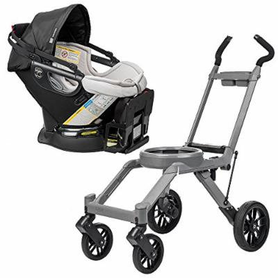 Orbit Baby G3 Stroller Base, Grey w Orbit Baby G3 Infant Car Seat and Base (Black)