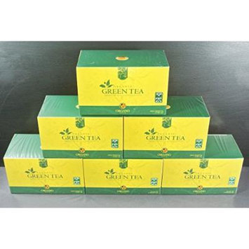 6 boxes Organo Gold Gourmet Green tea with 100% organic Ganoderma bagged (25 sachets per box)