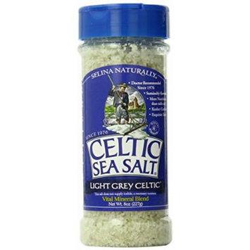 Celtic Sea Salt Shaker® Light Grey Coarse, 8-ounce (Pack of 6)