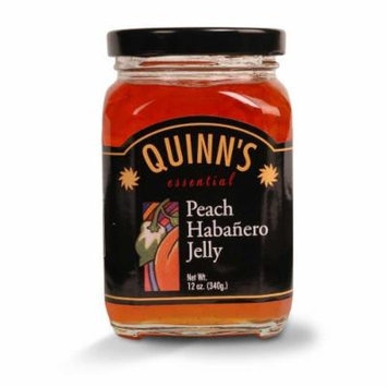 Gourmet Peach Habañero Jelly - Peaches, Orange Bell Peppers & Habañero Chilies - by Quinn's (Pack of 3)