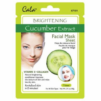 Cala Cucumber Extract Facial Mask Sheet Brightening - 67101