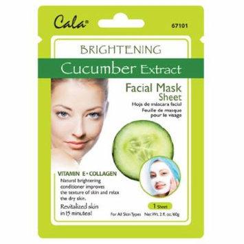 Cala Cucumber Extract Facial Mask Sheet Brightening - 67101