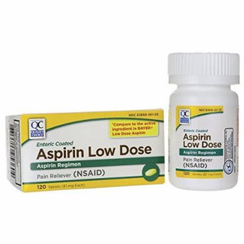 Quality Choice Aspirin Low Dose 81 mg 120 Tabs