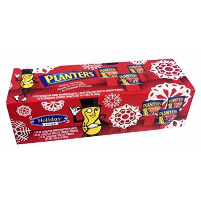 Planters Holiday Peanut Snack Pack Honey Roasted, Cocktail & Sweet N Crunchy 3 Pack!