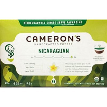 Cameron's Single Serve Coffee, Nicaraguan 12 Per Box (Pack of 2)