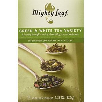 Mighty Leaf Tea, Green & White Variety --(Pack of 6)