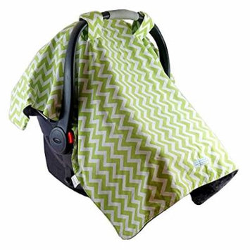 Blue Baby Bum Multipurpose Car Seat Canopy, Zig Zag, Green