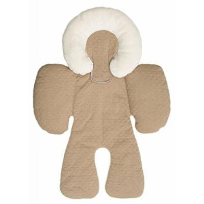 Brown- Baby Head and Body Support Pillow Warm Strollers Nursing Pillow Warm Car Seat Baby Pillow Cushion for Winter&summer