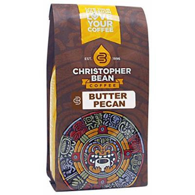 Christopher Bean Coffee Flavored Decaffeinated Ground Coffee, Butter Pecan, 12 Ounce