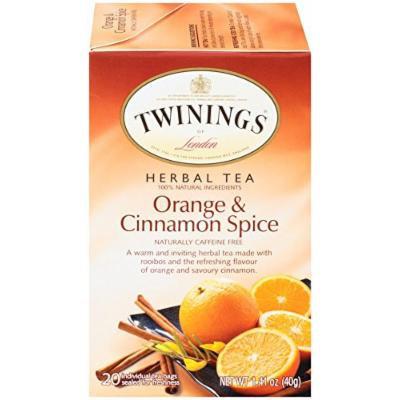 Twinings Herbal Tea, Orange & Cinnamon Spice, 20 Count Bagged Tea (6 Pack)