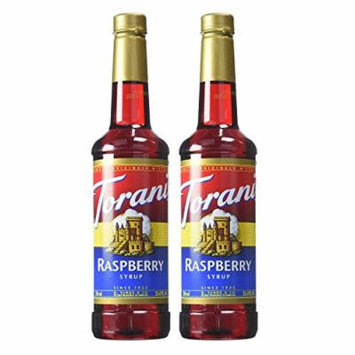Torani Hazelnut, Vanilla, Strawberry, Peach, Raspberry 750ml Syrup (Raspberry, 2 Pack)