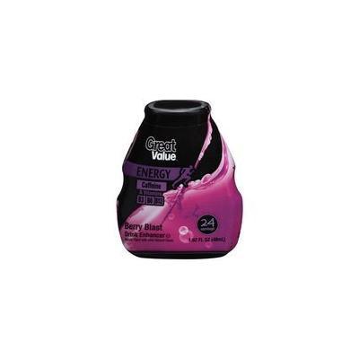 Great Value Energy Berry Blast Drink Enhancer, 1.62 fl oz(Pack of 4)