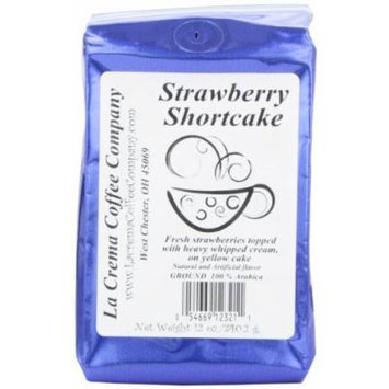 La Crema Coffee Strawberry Shortcake, 12-Ounce Packages (Pack of 2)