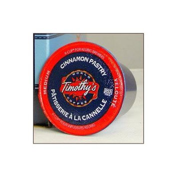 Timothy's World Coffee CINNAMON PASTRY 24 K-Cups for all Keurig Brewing Systems