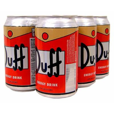 The Simpsons Duff Energy Drink Six Pack