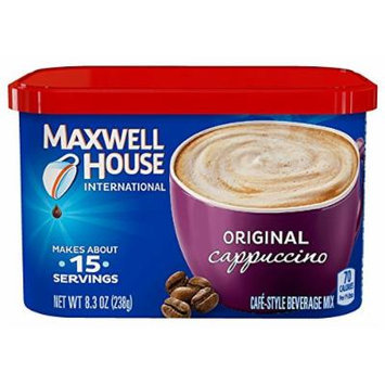 Maxwell House International Coffee Original Cappuccino, 8.3-Ounce (Pack of 4)