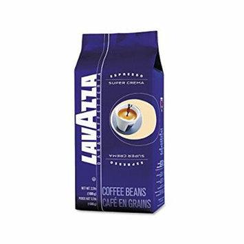 Lavazza Super Crema Whole Bean Espresso Coffee (2.2 lb. bag) (2 pack)
