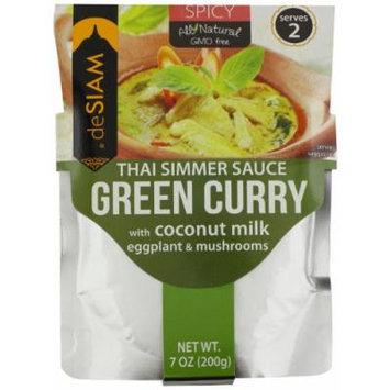 deSIAM Thai Simmer Sauce, Green Curry, 7 Ounce