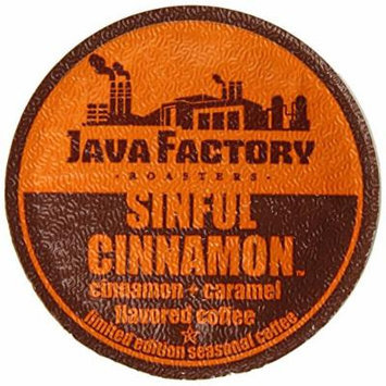 Java Factory Fall Seasonal Single Cup Coffee, Sinful Cinnamon, 24 Count