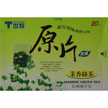 Tradition Tea, Jasmine Green Tea, 20-Count Boxes (Pack of 6)