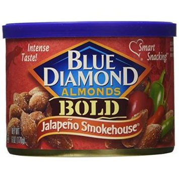 Blue Diamond Bold Almonds, Jalapeno Smokehouse 6 oz (Pack of 3)