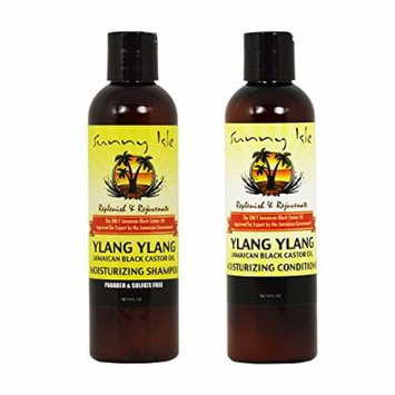Sunny Isle Moisturizing Ylang Ylang Shampoo 8oz & Conditioner 8oz Duo
