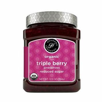 Grandma Hoerner's Organic Preserves, Triple Berry, 12.5 Ounce