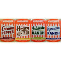Whataburger Signature Sauce 14oz-16oz Squeeze Bottle (Pack of 4) Select Flavor Below (Sampler Pack with 1 each of: Honey Mustard * Peppercorn Ranch * Jalapeno Ranch & Creamy Pepper)