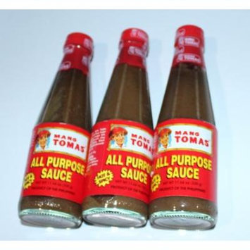 Mang Tomas All Purpose Sauce Pack of Three Hot & Spicy 11.64 Oz Per Bottle