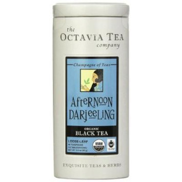 Octavia Tea Afternoon Darjeeling (Organic, Fair Trade Certified Black Tea) Loose Tea, 3 Ounce Tin