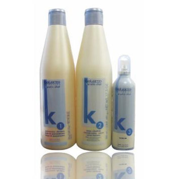 Salerm Keratin Shot 1 Maintenance Shampoo & 2 Straightening Cream & Serum