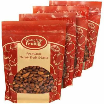 Almonds Roasted and Salted 4 Lbs (in 4 - 1 Lb Reclosable Bags)