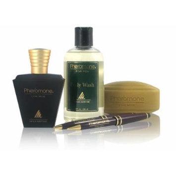 Pheromone for Men Collectible Set (Includes 1.7 Oz Cologne + 8 Oz Body Wash + Scented Soap)