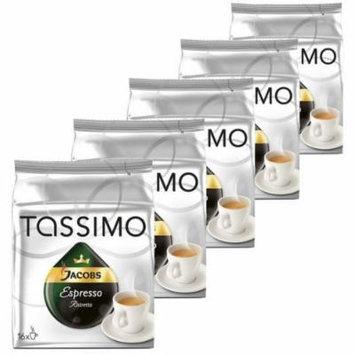 Tassimo Espresso Ristretto, Pack of 5, 5 x 16 T-Discs
