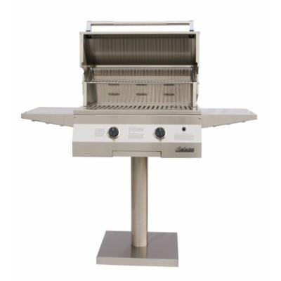 Solaire 27-Inch Basic InfraVection Propane Bolt-Down Post Grill, Stainless Steel
