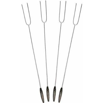 Rome Stainless Steel Roasting Forks with Pine Cone Handles, Set of 4