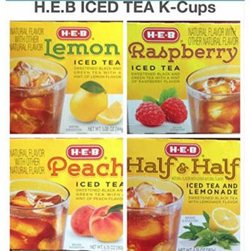 H.E.B Variety Iced Tea k-cup (Half and Half Iced Tea & Lemonade; Raspberry Iced Tea; Lemon Iced Tea; Peach Iced Tea) 48 counts