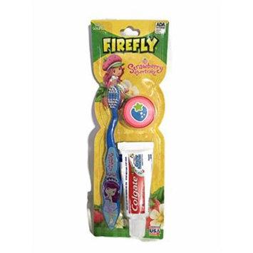 Firefly Strawberry Shortcake Blue Soft Bristle Toothbrush Kit