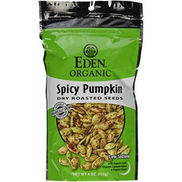 Dry Roasted Seeds Spicy Pumpkin 4 Oz Resealable Bags (Pack of 4)