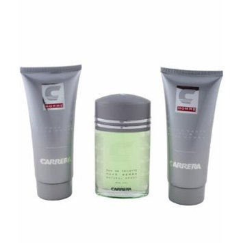 Carrera Pour Homme Giftset 3.4 oz EDT+ 6.8oz Aftershave Balm+ 6.8oz Shower Gel Exclusive at JAD Perfumes INC.