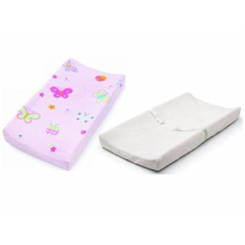 Summer Infant Changing Pad Cover 2 Pack, White/Pink