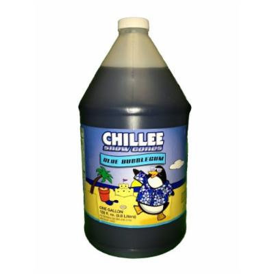 Chillee Snow Cone Syrup, Blue Bubblegum, 128 Ounce (pack of 4)