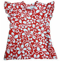 Mother-Ease Swim Top (Small (7-17 lbs / 0-6 months), Aloha Red - Girls)