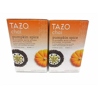 Tazo Chai Pumpkin Spice Black Tea (2 Pack) 20 Filterbags Per Box