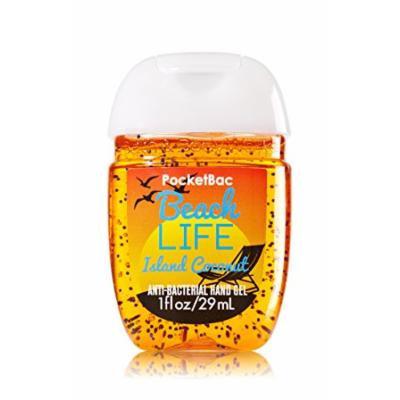 Bath & Body Works Beach Life Island Coconut Pocketbac - Bath & Body Works Oval Antibacterial Hand Sanitizer Gel