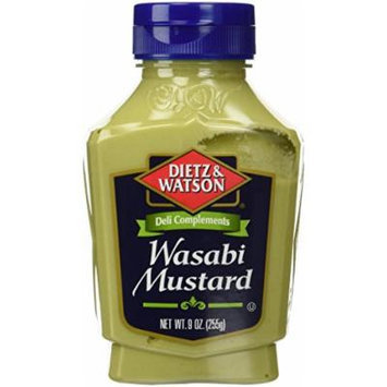 Dietz & Watson, Deli Compliments, Wasabi Mustard, 9oz Bottle (Pack of 2)