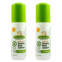 BabyGanics Alchohol Free Foaming Hand Sanitizer On-the-Go, 50 ml (1.69-Ounce) Bottles (Pack of 2)