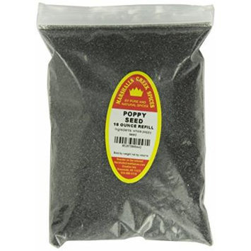 Marshalls Creek Spices Refill Pouch Poppy Seed Seasoning, XL, 16 Ounce