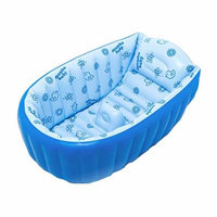 Generic Inflatable Baby Bath Tub Shower Seat Bath Suit 0-8 Years Baby Big Size 120*60*38CM Blue