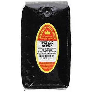 Marshalls Creek Spices Gourmet Whole Bean Coffee, Italian Blend, 12 Ounce